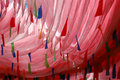 Prayer flags in Tibet China Royalty Free Stock Images