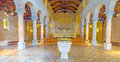 The prayer hall of multiplication church tabgha israel february has a central nave and two aisles it s decorated with restored Stock Image