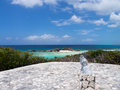 Prayer rock on middle caicos in the turks and caicos islands overlooking mudjin harbor Stock Photo