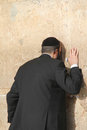 Prayer at the Wailing wall (Western wall) Royalty Free Stock Photo