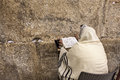 Prayer at Western Wall. Royalty Free Stock Photo