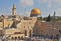 Prayer at the Western Wall of the Temple Royalty Free Stock Photo