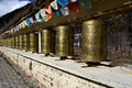 Prayer wheels and flags, Shangrila, Yunnan Stock Image