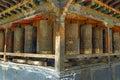 Prayer Wheels In Tibet Royalty Free Stock Photo