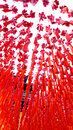 Prayer wishing ribbon chinese temple praying the flowers Royalty Free Stock Photos