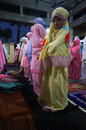 Prayers at the mosque islamic elementary school students perform a in city of solo central java indonesia Stock Images