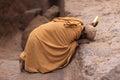 Praying man in Lalibela, Ethiopia Royalty Free Stock Images