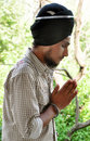 Praying sikh boy Royalty Free Stock Photos