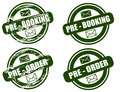 Pre Booking / Order grunge stamp set Royalty Free Stock Image