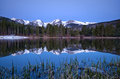 Pre dawn image of the Continental Divide and a Sprague Lake refl Royalty Free Stock Photo