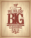 Pre holiday big clearance sale design eps Stock Photos