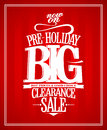 Pre holiday sale design template Stock Photos