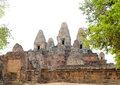 Pre rup angkor cambodia one of famous ancient temples in Royalty Free Stock Images