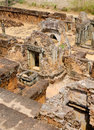 Pre rup angkor cambodia ruins of one of famous ancient temples in Royalty Free Stock Image