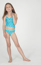 Pre Teen Girl in Swim Suit Royalty Free Stock Photography