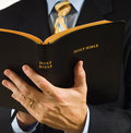 Preacher with Bible Royalty Free Stock Photo