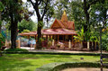 Preah and chek shrine in royal independence gardens in siam reap cambodia Stock Photography