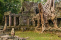 Preah khan temple Royaltyfria Foton
