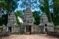 Preah khan temple gates ancient on the way to siem reap cambodia Stock Image
