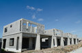 Precast building the structure are made from prefabrication system all pieces are made from high strength concrete then assembled Royalty Free Stock Photos