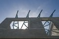 Precast building the structure are made from prefabrication system all pieces are made from high strength concrete then assembled Stock Photo