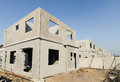 Precast building the structure are made from prefabrication system all pieces are made from high strength concrete then assembled Royalty Free Stock Image