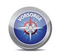 Precaution in german. compass illustration design Royalty Free Stock Photo