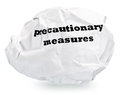 Precautionary measures Royalty Free Stock Image