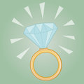 Precious diamond ring illustration of a Royalty Free Stock Image