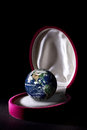 Precious planet earth earth care concept isolated on black background Royalty Free Stock Image