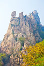 The precipitous peak and autumnal scenery photo taken in china s hebei province qinhuangdao city ancestral mountain scenic area Royalty Free Stock Photos