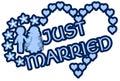 Precis gift etikett med hjärtablommor och par Arkivfoto