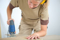 Precise cutting plywood Royalty Free Stock Photo