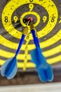 Precise shot to the center. Royalty Free Stock Photo