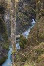 Predaselj creek with a blue spring narrow water Royalty Free Stock Photo