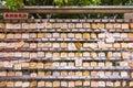 Predict of japanese pray japan style wood hang on wall Royalty Free Stock Photo