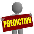 Prediction sign character means future forecast progress and destiny Royalty Free Stock Photo