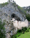 Predjama castle landscape, Slovenia Stock Photo