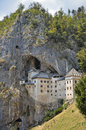 Predjama castle slovenia characteristic and imposing perched on a mountainside Royalty Free Stock Image