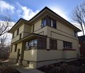 Prefabricated F. L. Wright House Royalty Free Stock Photo