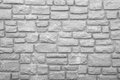 Preformed stone wall in black and white a fills this image Royalty Free Stock Image