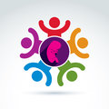 Pregnancy and abortion idea, baby embryo symbol. Vector colorful Royalty Free Stock Photo