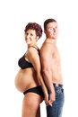 Pregnancy couple beautiful happy young Royalty Free Stock Images