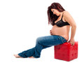 Pregnancy a portrait of maternity of a woman of forty years Stock Photos
