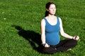 Pregnancy - pregnant woman exercise Yoga Royalty Free Stock Photo