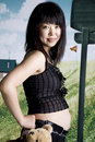 Pregnant Asia fashion woman Stock Image