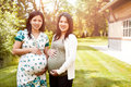 Pregnant Asian women Stock Photo