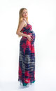 Pregnant blonde beautiful long dress Stock Image