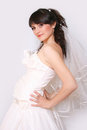Pregnant bride Stock Images