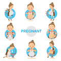 Pregnant Discomfort Royalty Free Stock Photo